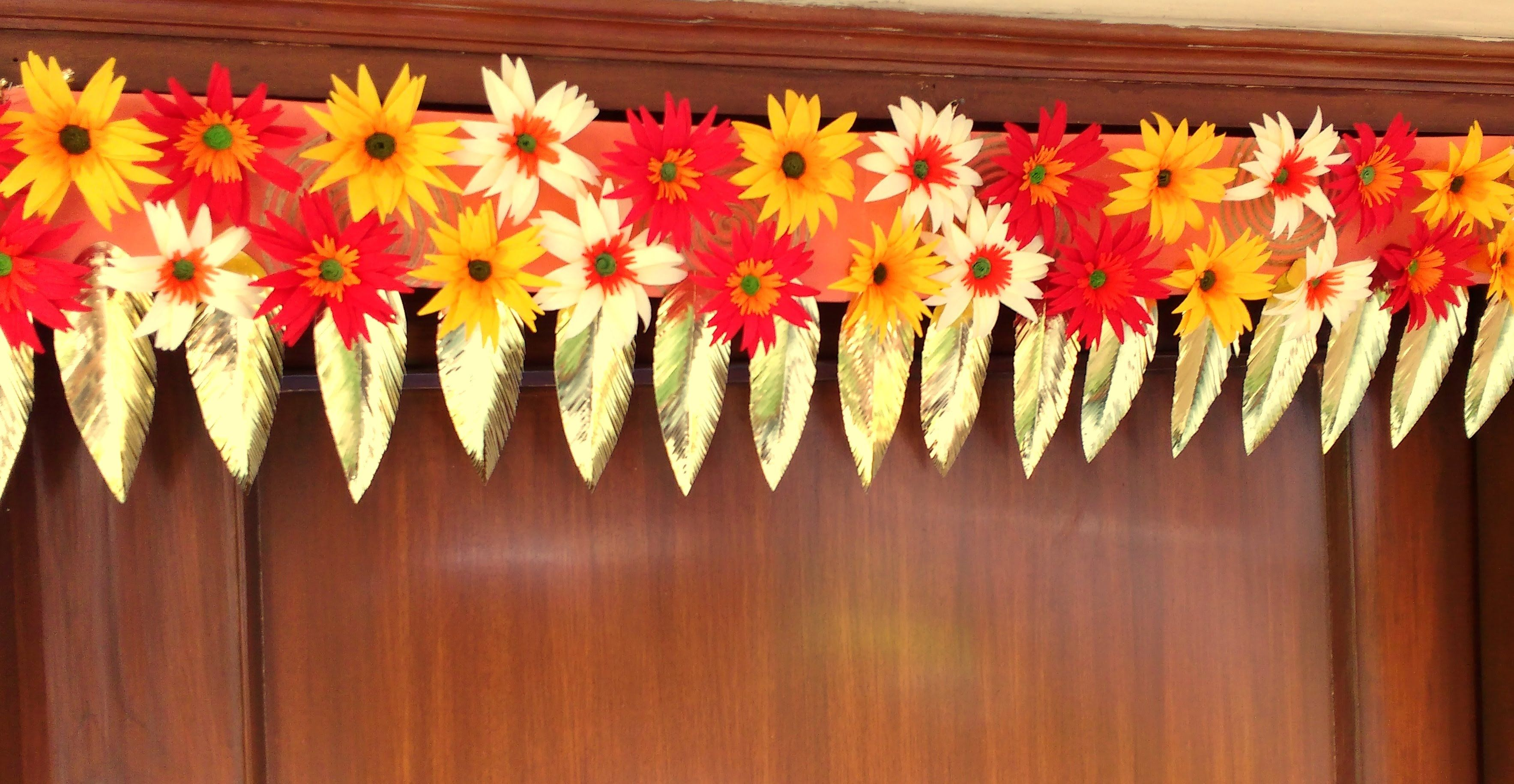 Easy Paper Flowers Bandhanwar Toran