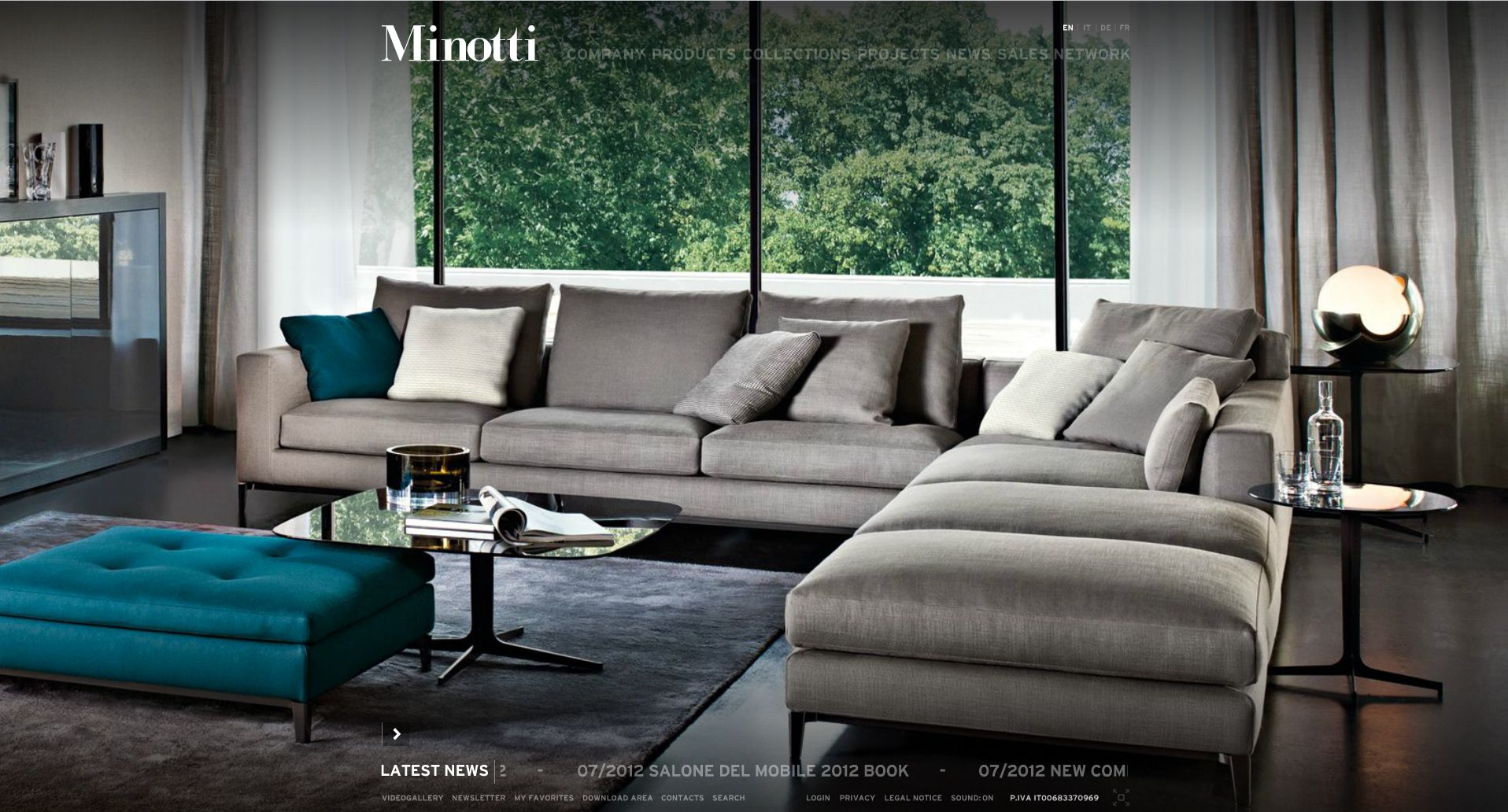 latest sofa designs for living room%0A Minotti Living Room sectional