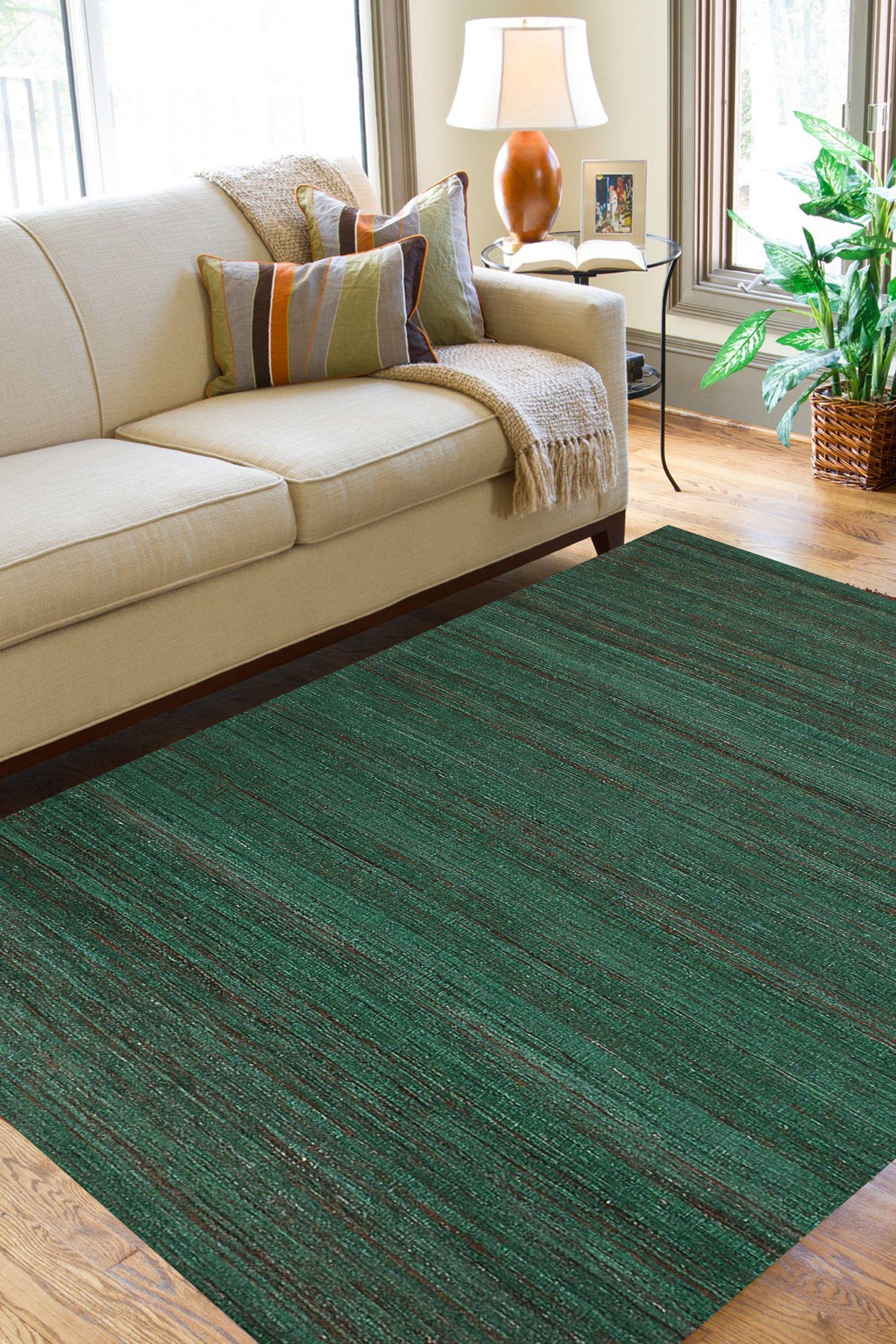 rugsville modern green handmade silk dhurr living room makeover rh pinterest com