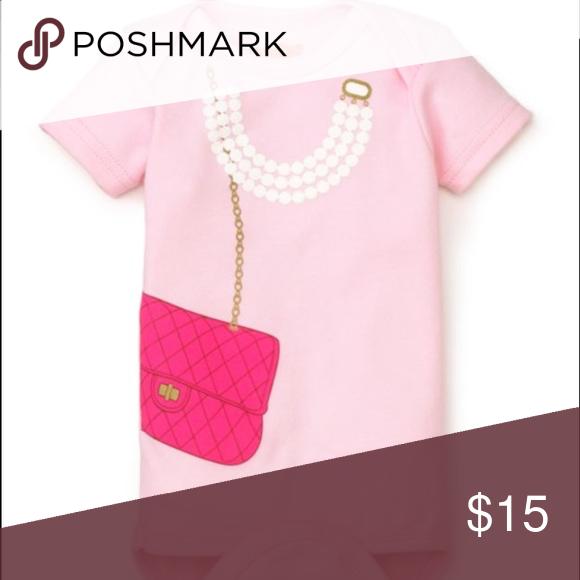 "Sara Kety onesie NWT ""bag and pearls"" onesie Sara Kety Shirts & Tops"