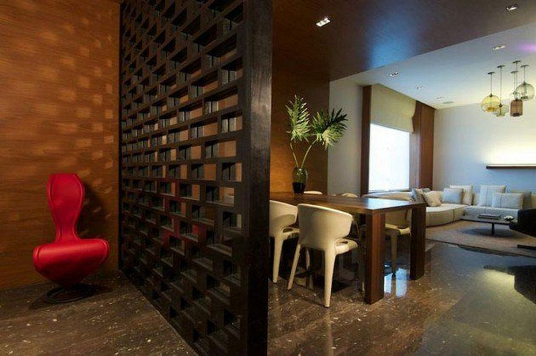 42 stunning modern partition design ideas for living room living rh pinterest com