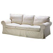 ikea ektorp 3 seat sofa cover replacement slipcover svanby beige new rh pinterest es