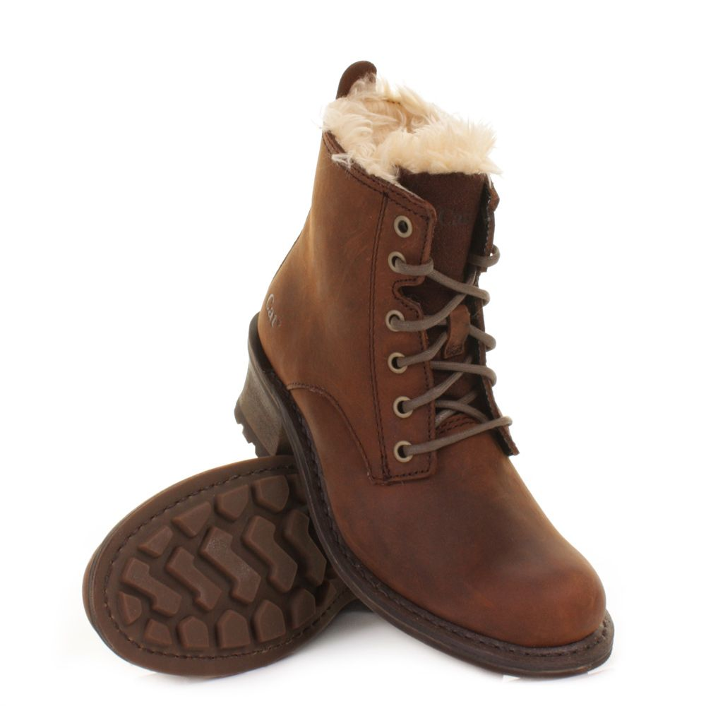 Caterpillar - Womens Boots - Shoes. cute they look super warm  5ebc09003