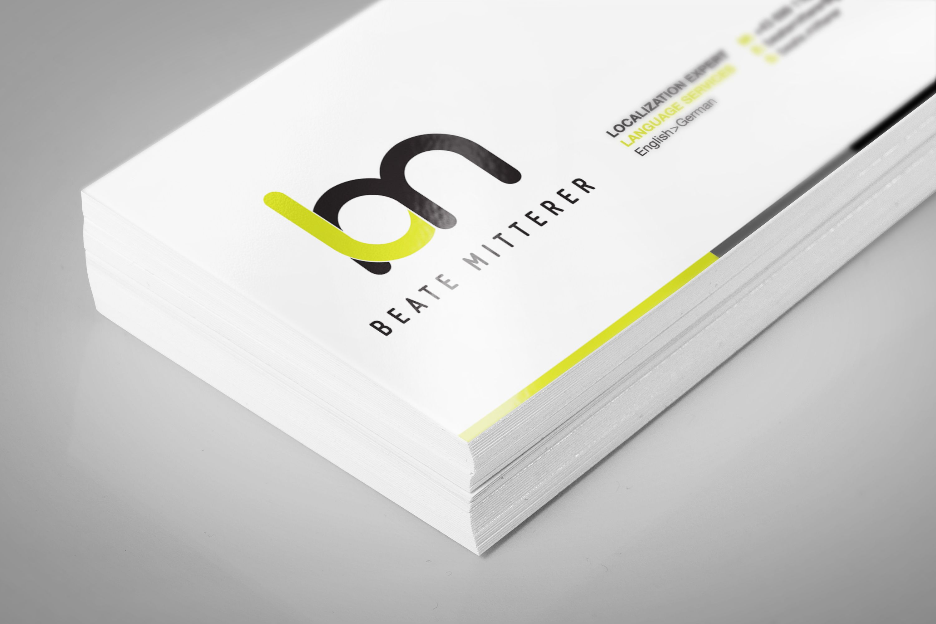 Personal Brand Business Card Design Logo Lime Green And Black Branding Contemporary Fonts