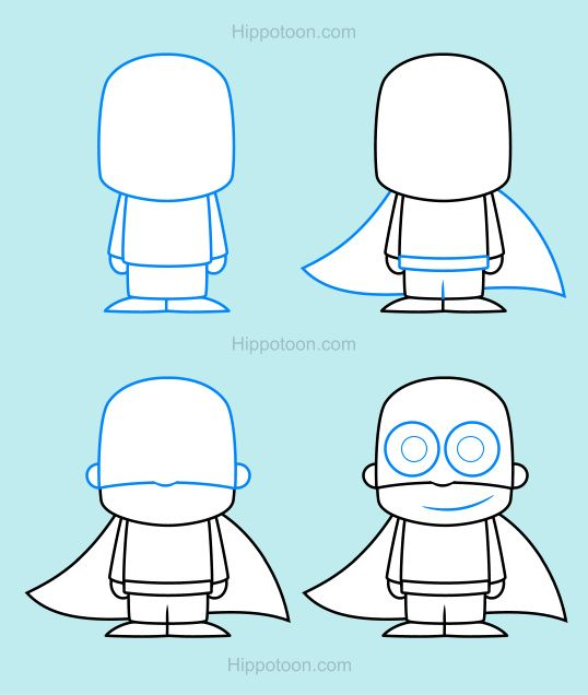 Simple Drawing Lesson On How To Draw A Superhero My Favourite