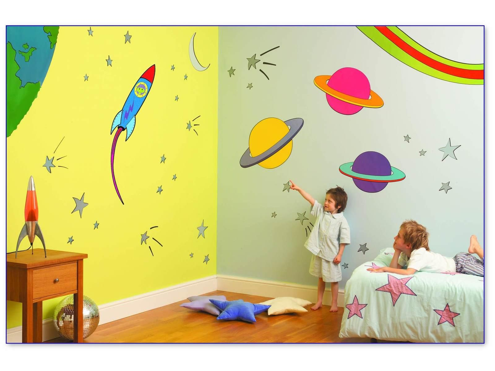 Coffret stickers muraux espace - FUNTOSEE | Decor Baby Room | Pinterest