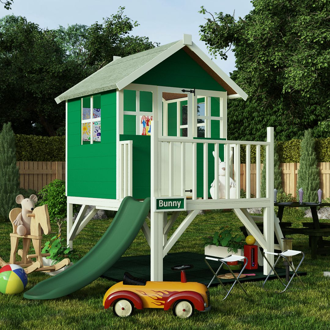 Wooden Playhouse – This Wooden Playhouse features a loft area with ...