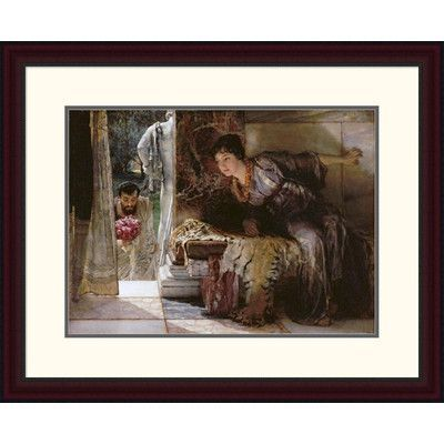 Global Gallery 'Welcome Footsteps (Well-Known Footsteps)' by Sir Lawrence Alma-Tadema Framed Painting Print Size: