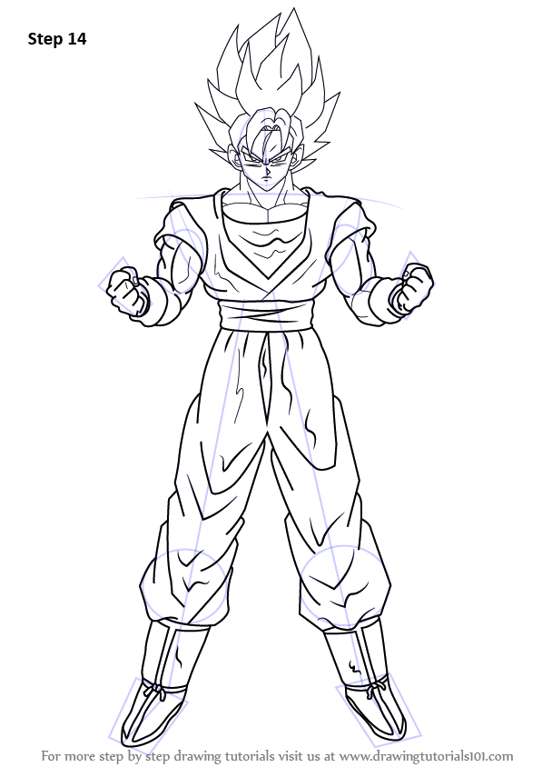 Learn How To Draw Goku Super Saiyan From Dragon Ball Z Dragon Ball Z Step By Step Drawing Tutorials Goku Drawing Super Coloring Pages Goku Super Saiyan