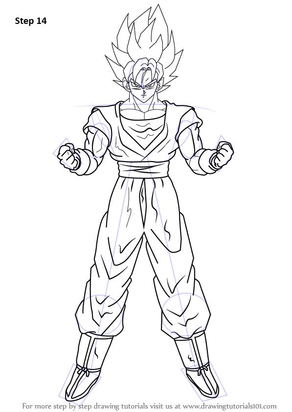 Learn How To Draw Goku Super Saiyan From Dragon Ball Z Dragon
