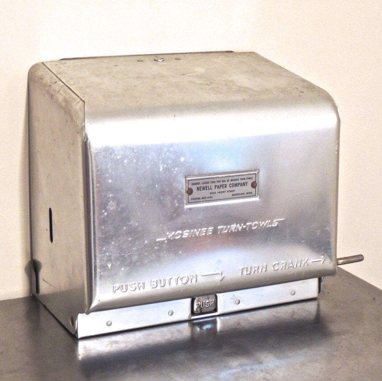 vintage paper towel dispenser 1950s 60s newell paper co atomic rh pinterest com