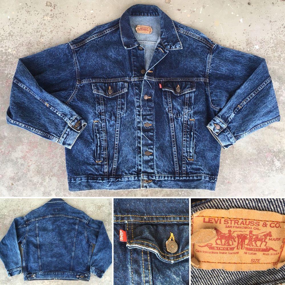 Vinrage Levis Denim Jacket Made In Usa Trucker Jean Jacket L Ebay Levis Denim Jacket Jackets Denim Jacket [ 1000 x 1000 Pixel ]