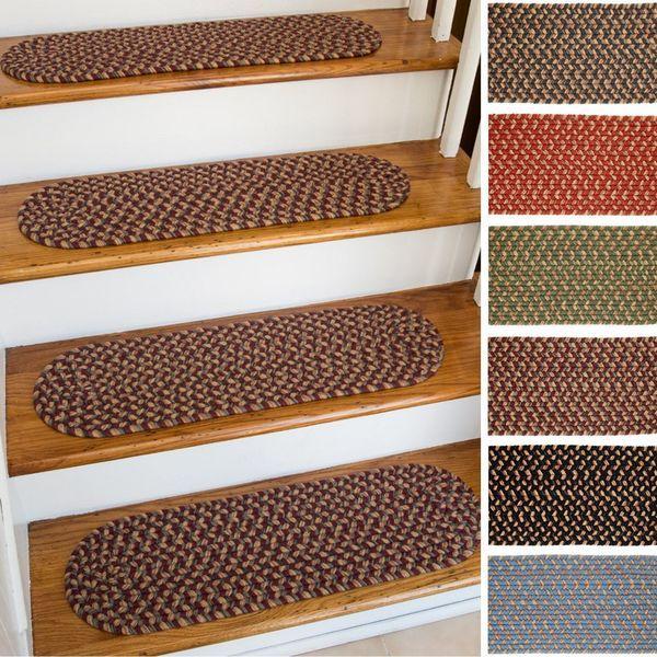 Best Ellsworth Indoor Outdoor Reversible Braided Stair Treads 8 Inch X 28 Inch Set Of 4 Stair 400 x 300