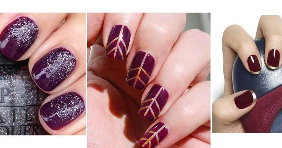 12 Ideas De Uñas Decoradas Con Color Burdeos Toma Nota Arte De