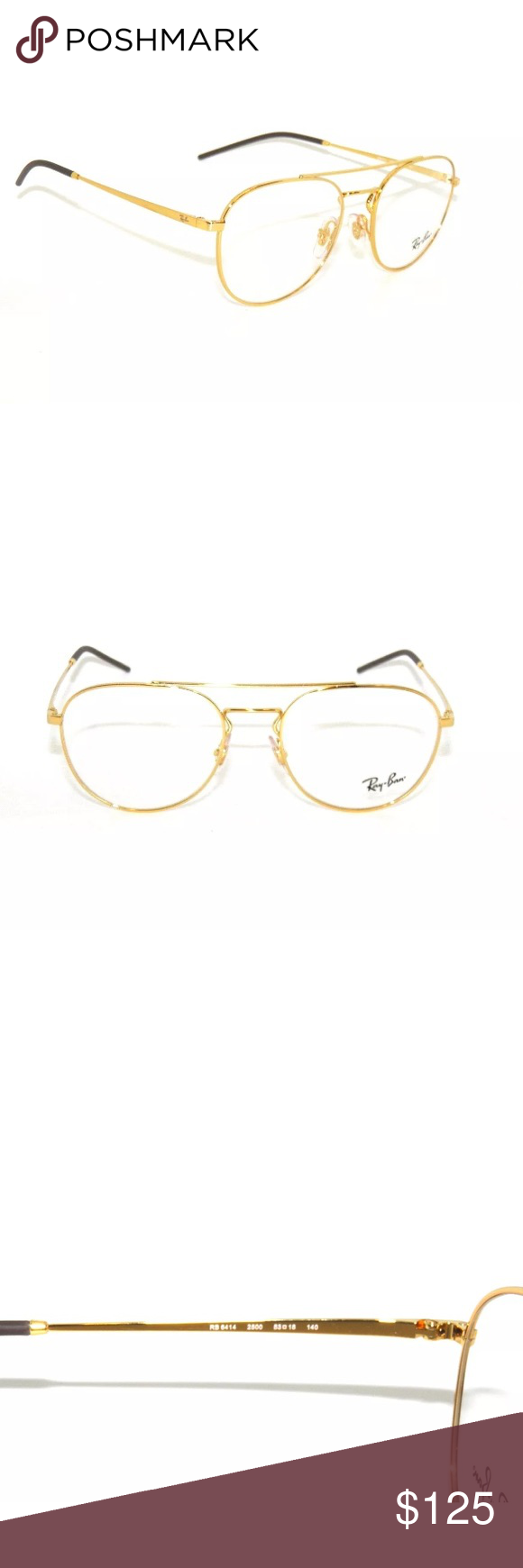 f5b9a2e35a Rayban Eyeglasses 6414 Gold frame and clear lens New with clear lens  Authentic Comes with rayban case Ray-Ban Accessories Glasses
