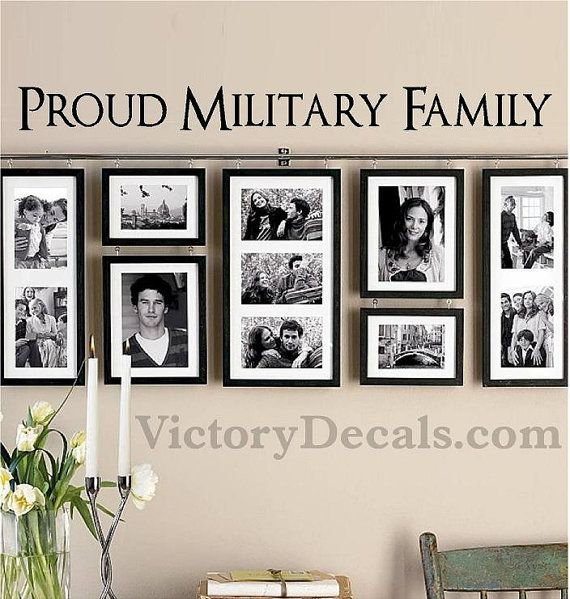 Vinyl Wall Decal 36x3 Proud Military Family by VictoryDecals, $20.00 ...