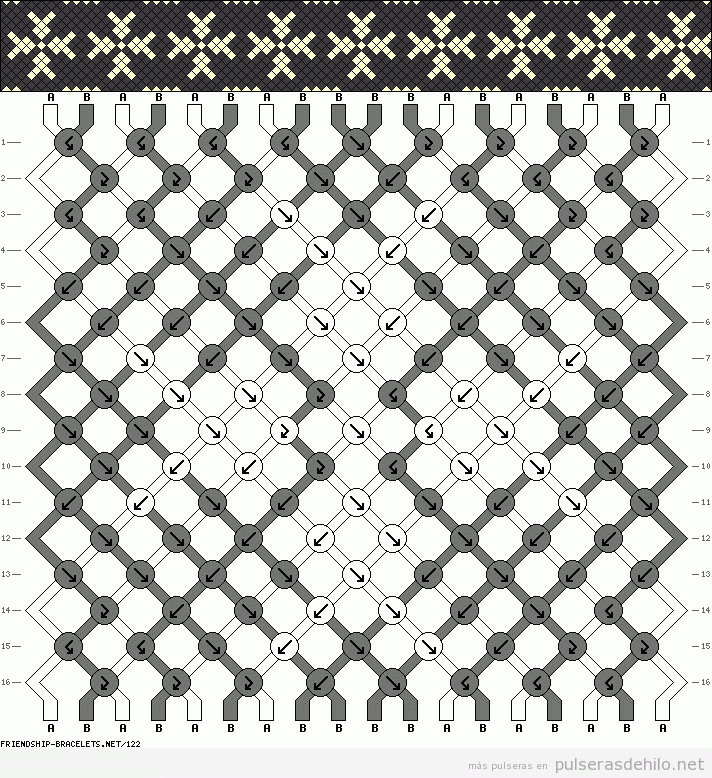 Resultado de imagen para diagramas de pulseras macrame
