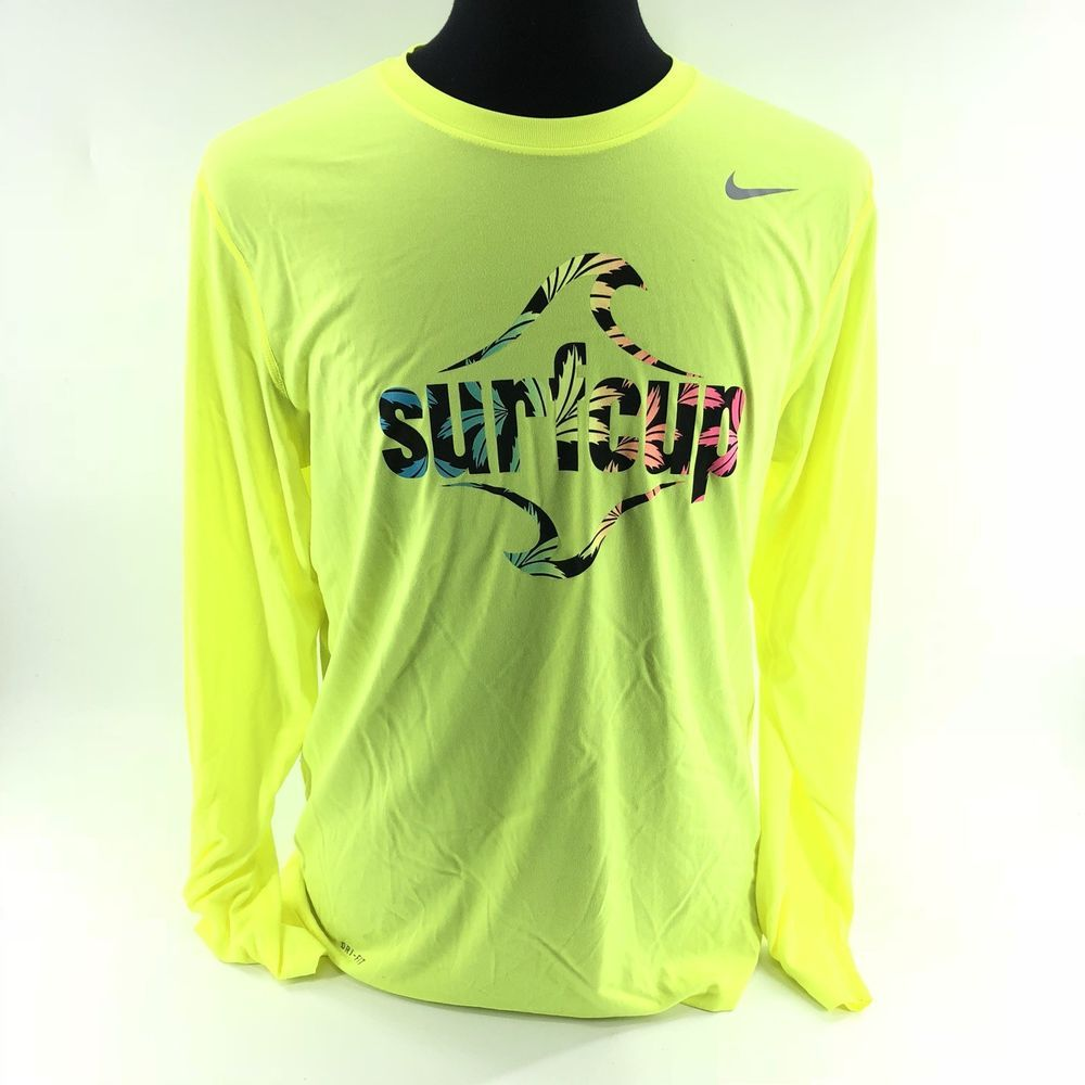 Drifit Long Sleeve Neon Yellow