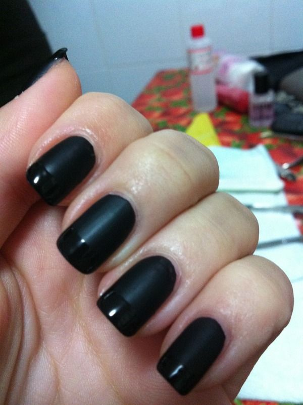 I cannot find matte black nail polish anywhere! But I really love it ...