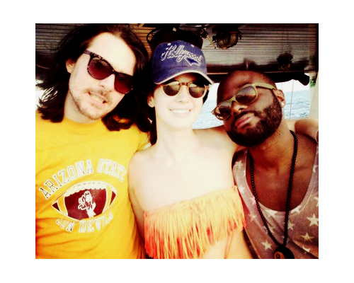 Lana Del Rey with Barrie-James O'Neill and Byron Thomas in Barcelona #LDR