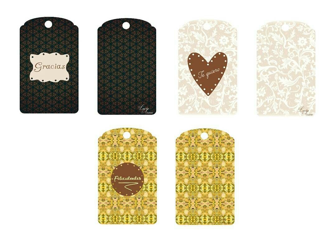 Etiquetas de Lucía Arsan, con un estilo clásico, para poder decir todo lo que quieras xon tus regalos. Pronto en La Cuca de Lux.