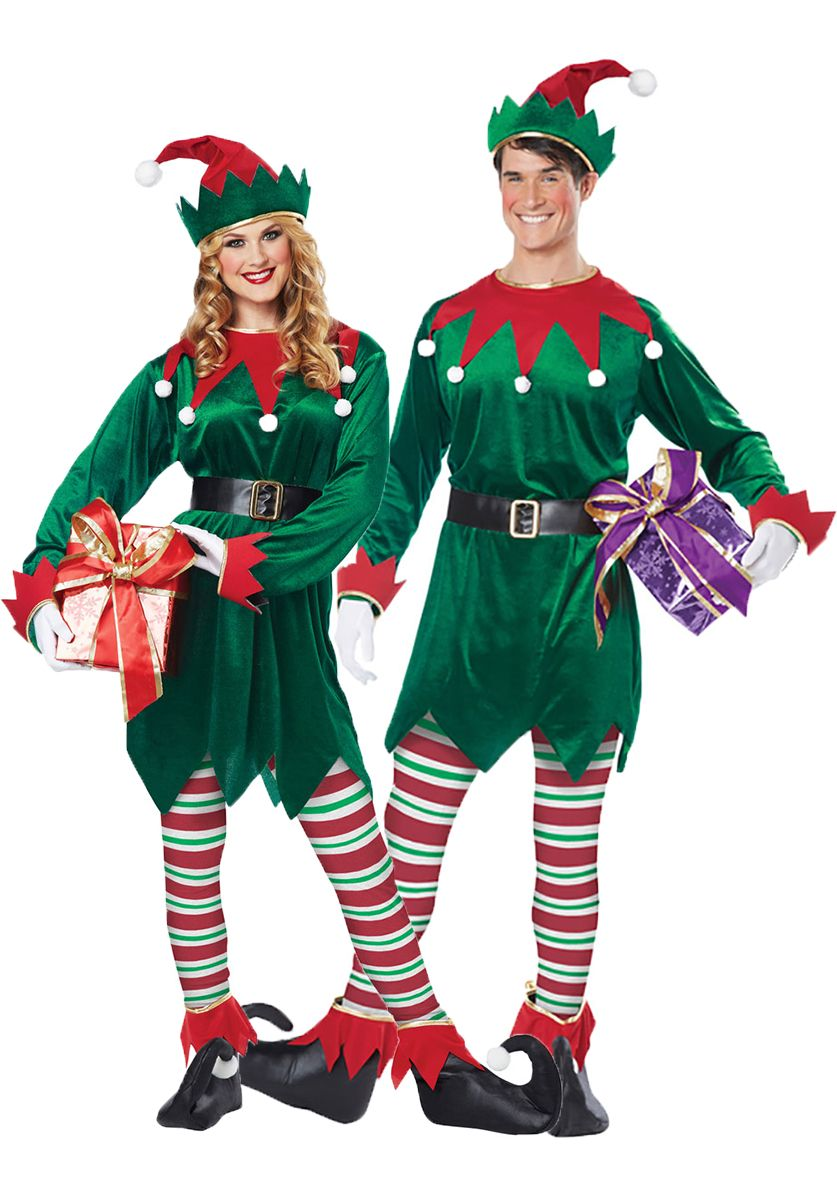 Unisex Christmas Elf Costume Christmas elf costume, Elf