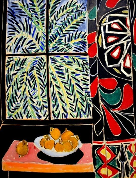 Interior with Egyptian Curtain by Henri Matisse