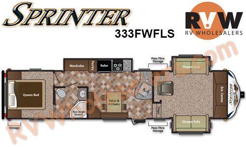 2014 sprinter copper canyon 333fwfls fifth wheel by keystone rv rh pinterest com