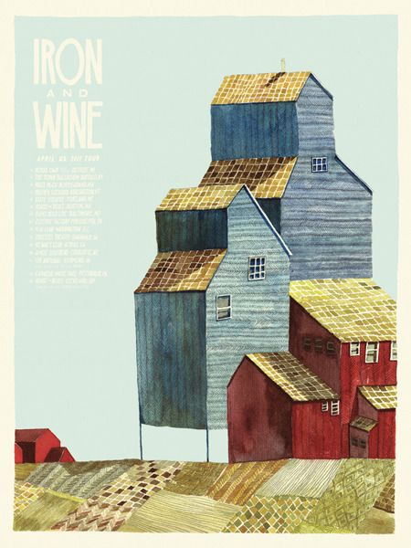 Iron and Wine April 2011 tour poster, by Landland: www.landland.net/work/--the-store--how-to-buy-things-weve-made/