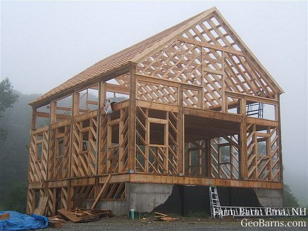 Timber House By Geobarns Llc On The Unique Diagonal Framing Of A Geobarn Building A House Wood Roof