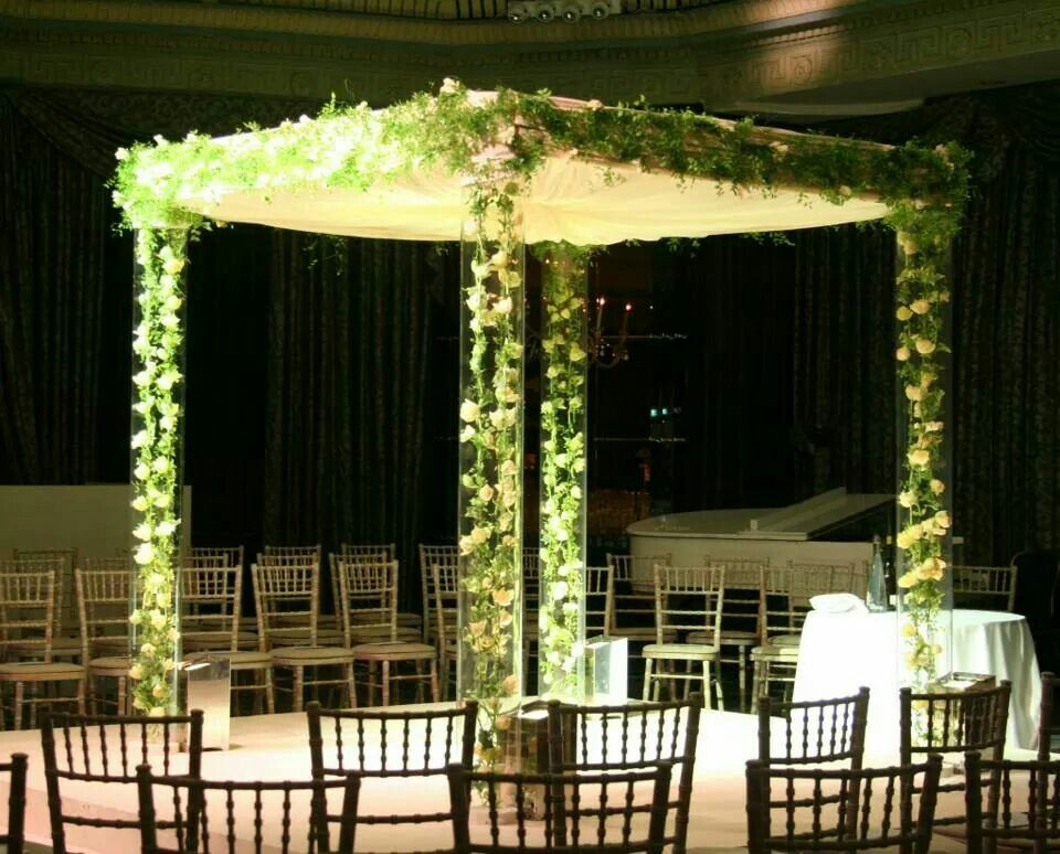 wedding stage decoration pics%0A   tulip chains encased in persex chuppah    Cool Wedding Chuppah Ideas