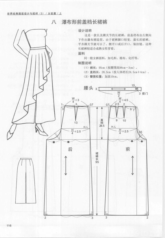 culottes design #sewing, #patternmaking. #dressmaking. #garment ...