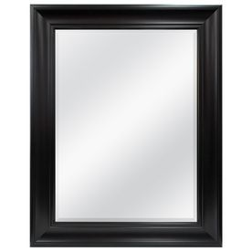 Style Selections 38 In X 48 In Espresso Taryn Rectangle Framed Wall Mirror 40 Bath Mirror