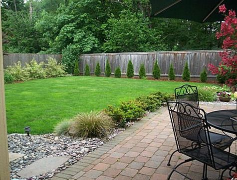Big And Simple Yard Large Backyard Landscaping Large Yard
