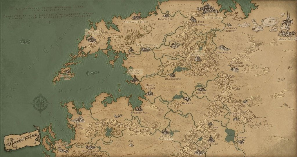 OCArt A Map of Runewarren Or I
