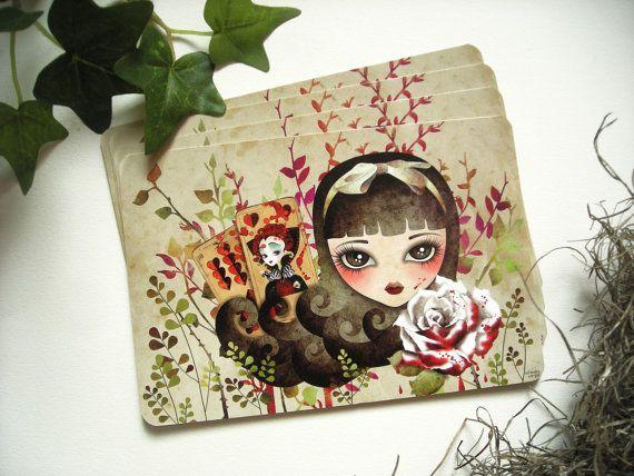 Hidden Garden Limited Edition Postcard by sandragrafik on Etsy, $2.50