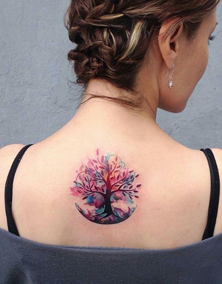 tatouage arbre de vie - unité de signification profonde et design
