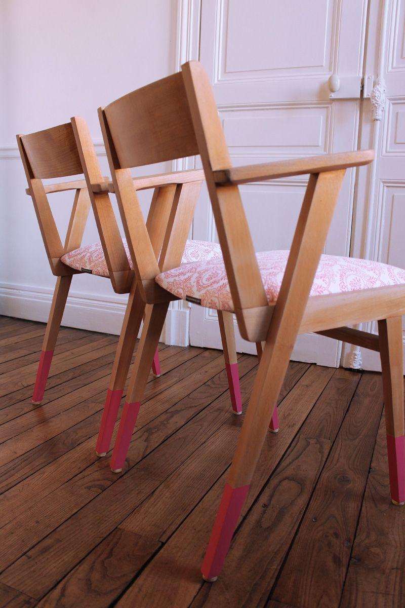 Vernis Ou Vitrificateur Sur Un Meuble Peint paire de fauteuils bridge années 60 | fauteuil, vieux papier