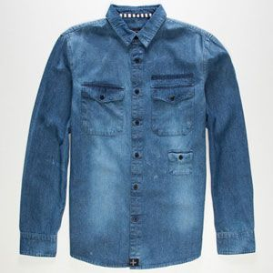 TAVIK Slim Pickens Mens Denim Shirt 221260200 | Shirts | Tillys.com