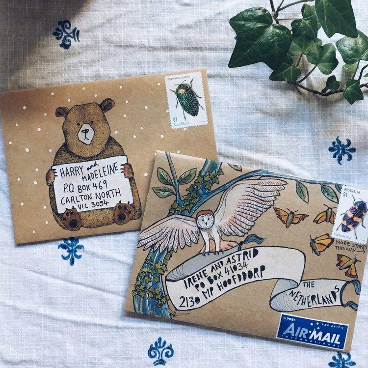 Pin de Emma Bryson en Letters | Pinterest | Sobres decorados, Sobres ...