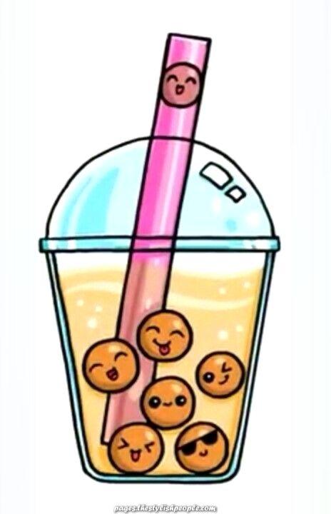 Boba Drink Kawaii Drawings Cute Kawaii Drawings Kawaii Girl