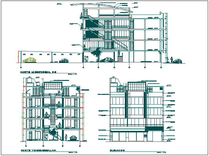 Commercial Building Plan Detail View Dwg File Cadbull Commercial Building Plans Building Plan Commercial Complex