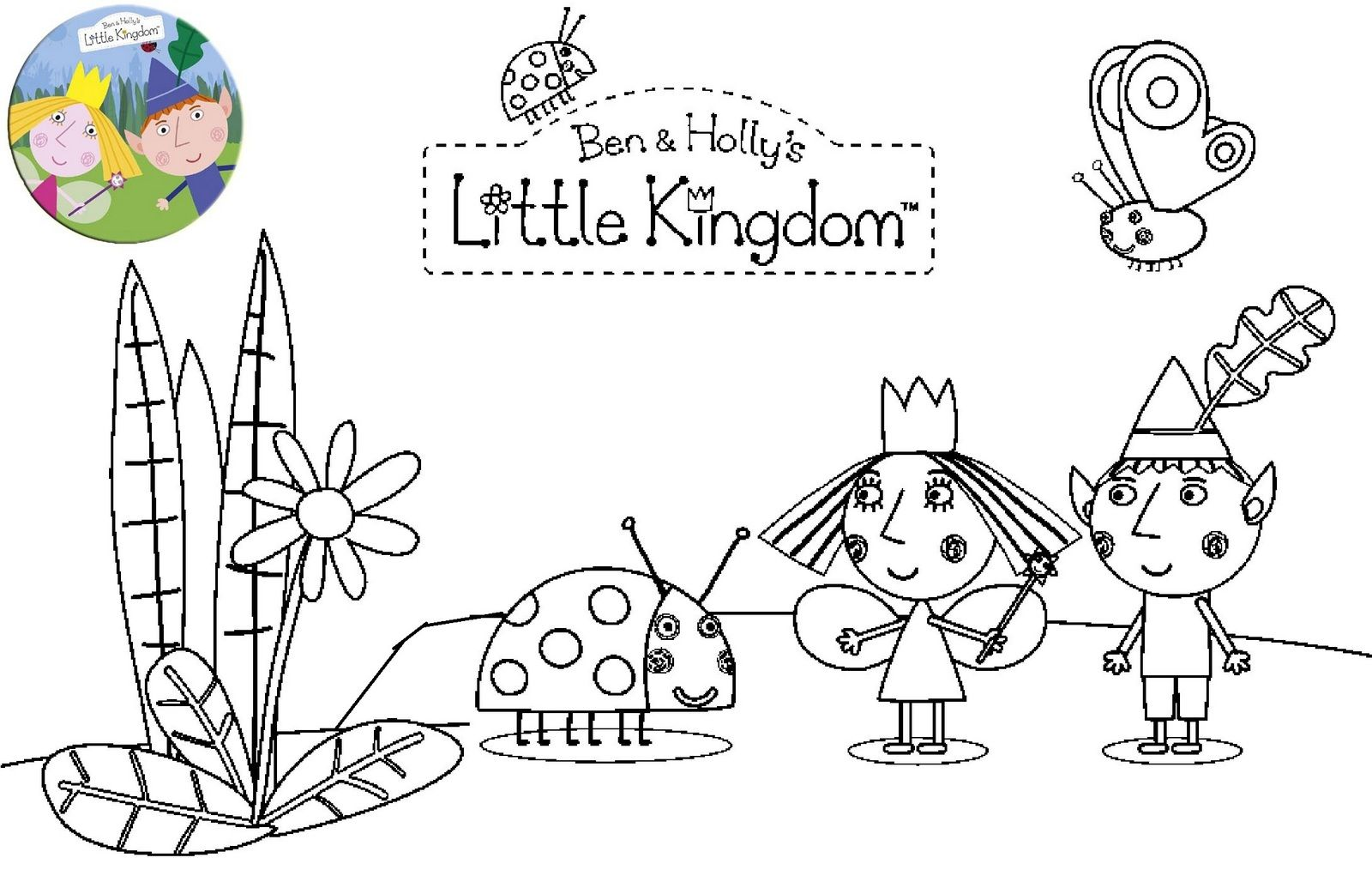 Printable Ben And Holly Little Kingdom Coloring Page Ben And Holly Ben And Holly Party Ideas Coloring Pages