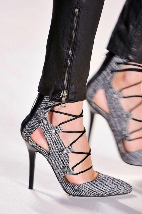 Marissa Webb Lace-Up Sandal Fall 2014 RTW