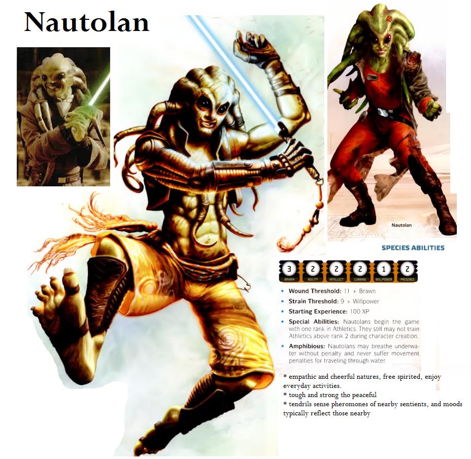 nautolan star wars rpg races force and destiny fantasy flight