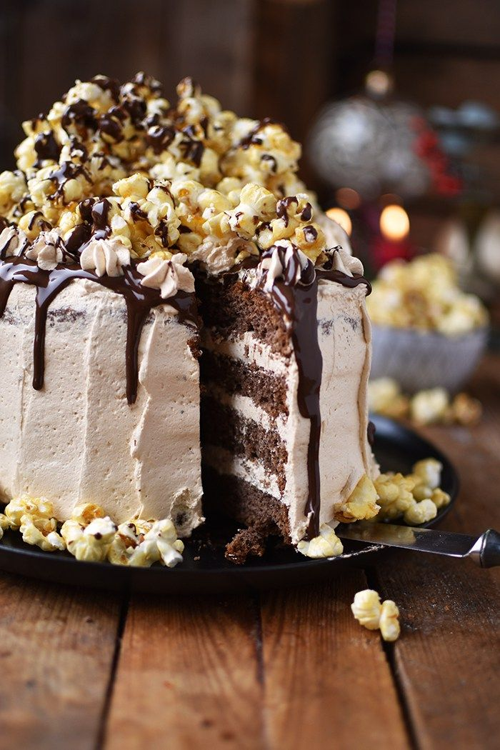 zimt karamell popcorn torte rezept xmas sweets. Black Bedroom Furniture Sets. Home Design Ideas