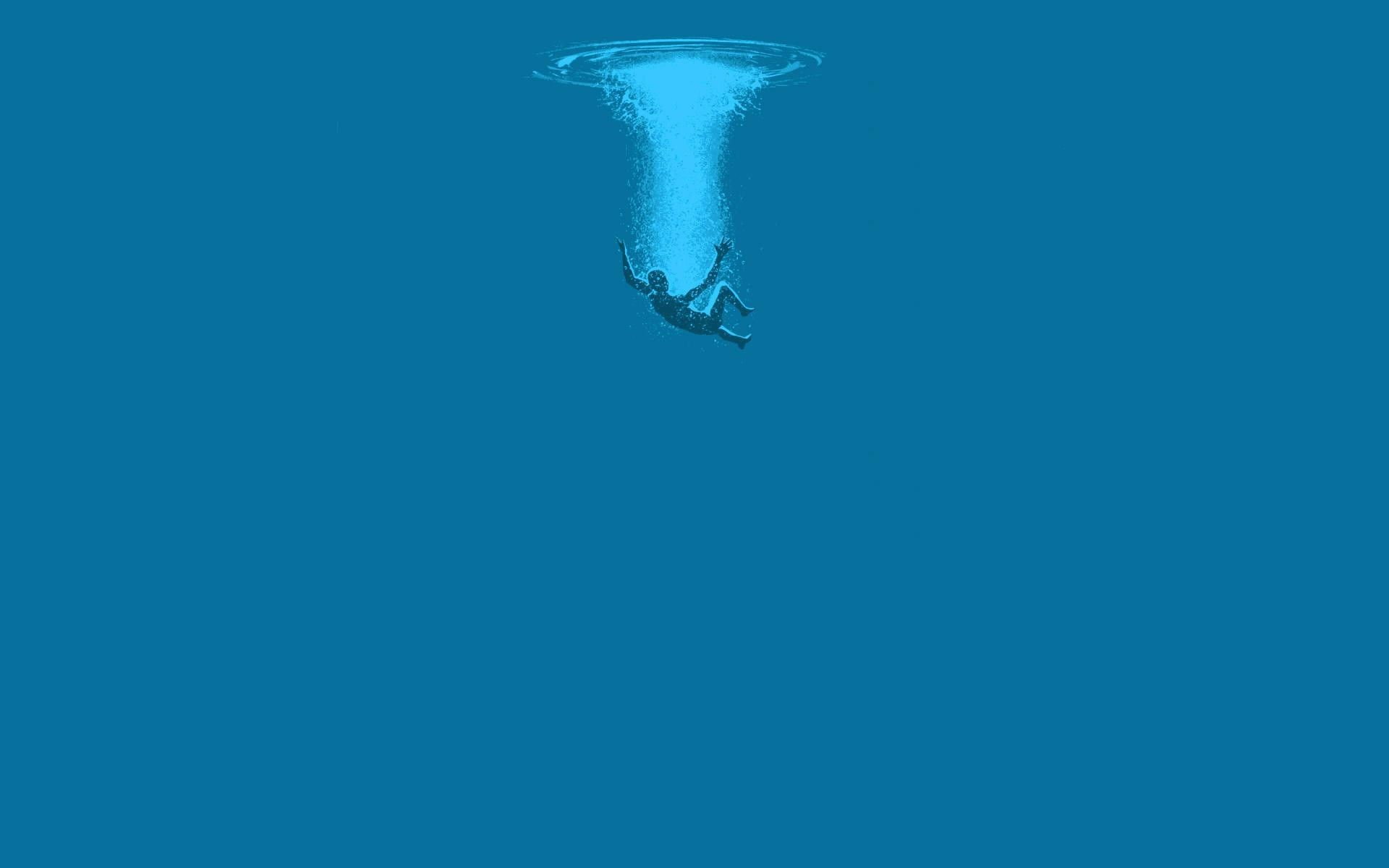 water, underwater, blue, minimalism, wallpaper