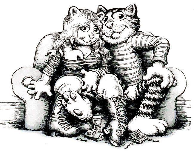 zeichnung von robert crumb