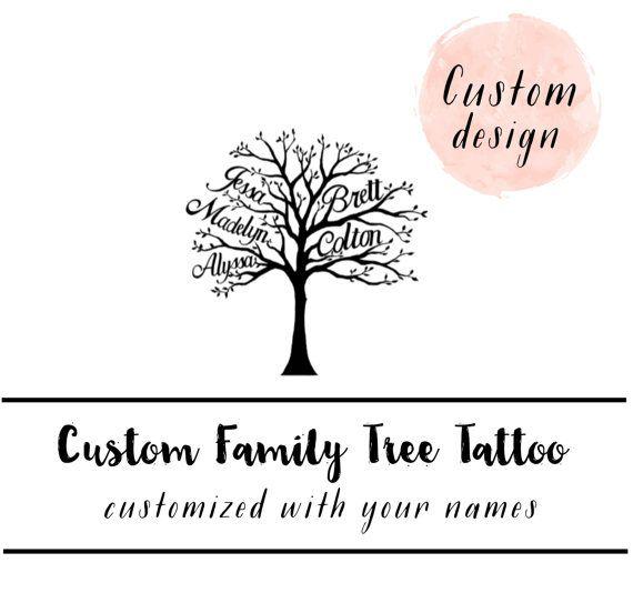Family Tree tattoo - Custom Family Tree - family tree - Mommy ...
