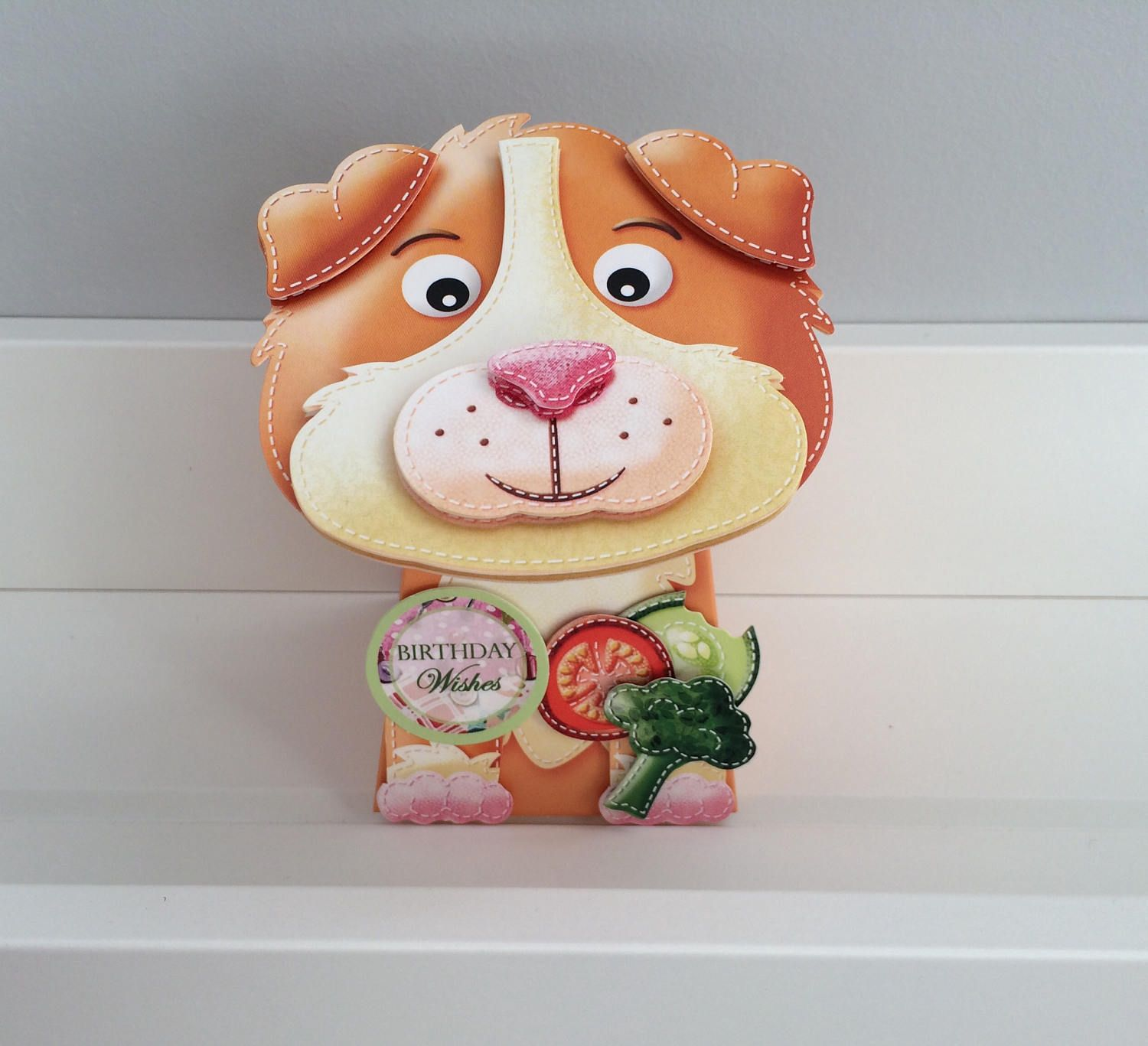 Guinea pig dimensional card with wobbly head by jdesigns on
